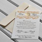 Ucuz Düğün Davetiyesi Kl10576 100 Adet
