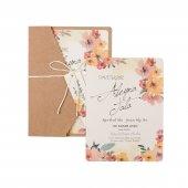 çiçekli Düğün Davetiyesi Pe22301 100 Adet