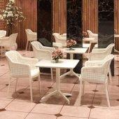 Tilia Eva Masa Sandalye Takımı 2 Kişilik Yemek Masası Seti