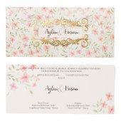 çiçekli Pencereli Düğün Davetiyesi Pe22372 100 Adet