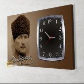 İmzalı Atatürk Saatli Kanvas Tablo-3