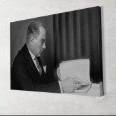 Siyah Beyaz Atatürk Kanvas Tablo-2