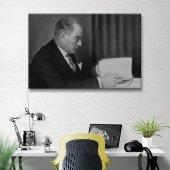 Siyah Beyaz Atatürk Kanvas Tablo-3