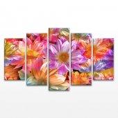 Bahar Çiçekleri 5 Parça Kanvas Tablo