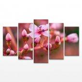 Altın Çiçek 5 Parça Kanvas Tablo