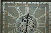 Kare Roma Rakamlı Yeşiloksit  Çarklı  Metal Duvar Saati-3