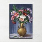 Vazodaki Çiçekler Kanvas Tablo