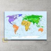 Güncel Siyasi Dünya Haritası Kanvas Tablo