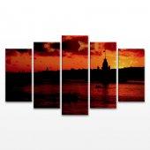 Kız Kulesi 5 Parça Kanvas Tablo