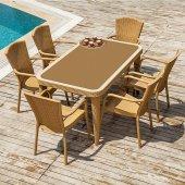 Tilia Elna 6 Kişilik Masa Altı Kişilik Masa Sandalye Seti