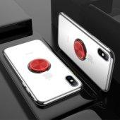 iPhone X Yüzüklü 360°Dönen Standlı kılıf
