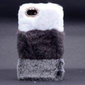 iPhone 8 Kılıf Zore Kulaklı Peluş Kapak-2