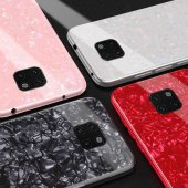 Huawei Mate 20 Pro Kılıf Zore Marbel Cam Silikon-3