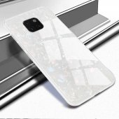 Huawei Mate 20 Pro Kılıf Zore Marbel Cam Silikon-8