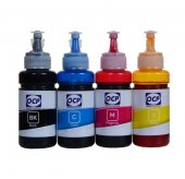 Epson L605 Yazıcı Ocp 4 Renk Dye Mürekkep Seti 4x70 Ml