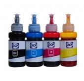 Epson L382 Yazıcı Ocp 4 Renk Dye Mürekkep Seti 4x70 Ml