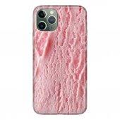 iPhone 11 Pro 5.8 inch  Kılıf Desenli Esnek Silikon Telefon Kabı Kapak - Pembe Dondurma