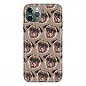iPhone 11 Pro 5.8 inch  Kılıf Desenli Esnek Silikon Telefon Kabı Kapak - Pug Pug Köpek