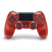 Sony Ps4 Muadil Dualshock 4 V2 Gamepad Yeni Nesil Kol Kristal Kırmızı