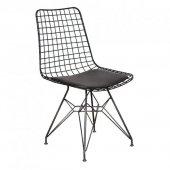 Eames Masa Sandalye Takımı 80x120 Siyah + 4 Tel...