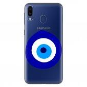 Samsung Galaxy M30 Kılıf Desenli Esnek Silikon Telefon Kabı Kapak - Nazarlık