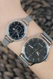 Spectrum Sevgili Saati Mıknatıslı Hasır Kordon Silver Renk