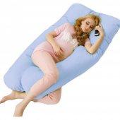 Hamile Yastığı 5 Bölge Destekli Hamile Destek Yastığı Mavi Çantalı