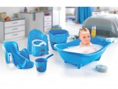 Dünya plastik küvet seti - bebek banyo küvet takımı 5 li set