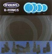 Evans Efus Ring 10+12+14+14 Fusıon Kit Davul Ton Kontrol Halk Davul Susturucu Set Fusıon E Ring 10 12 14 14
