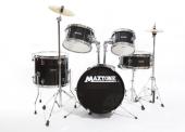 Maxtone Mxc 602bk Junıor Davul Set 5 Pcs Siyah + Zil Ve Tabure Maxto Junıor Davul Set 5 Pcs Siyah + Zil Ve Tabure Maxtone Çin