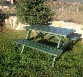 Alaçam Mobilya Piknik Masası 6 Kişilik Yeşil