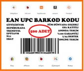 500 Adet Gtin Ean Upc Barkod Kodları Gs1...