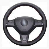 Chevrolet Aveo 2011-14 Deri Direksiyon Kılıfı Araca Özel Dikmeli