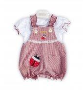 Bebüş Kız Bebek 3 12 Ay Pitikare Slopet Yazlık Tulum