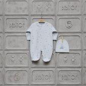 Bebitof Kız Erkek Bebek 0 6 Ay Top Oynayan Tavşan Tulum 70002