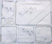 Bebelinna Kız Bebek Petek Kumaş Dantelli 10 Lu Hastane Çıkışı