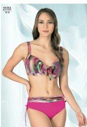 Endeep Kadın İçi Boş Dolgusuz Battal Bikini Lacivert 21751