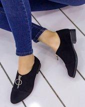 Mollye Siyah Süet Oxford Ayakkabı
