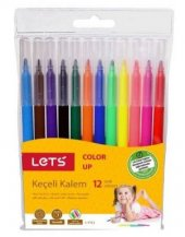 Lets Keçeli Kalem 12 Renk L 7112