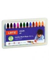 Lets Jumbo Mum Boya 12 Renk Plastik Kutulu L 6512p