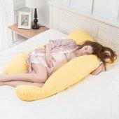 Hamile Yastığı 5 Bölge Destekli Hamile Emzirme Yastığı Pillov Sarı