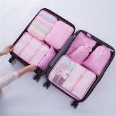 Bavul İçi Düzenleyici Organizer 6 Lı Set Pembe...