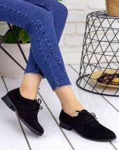 Anweni Siyah Süet Oxford Ayakkabı