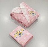 Özdilek Kız Çocuk Bebek Bornoz Takımı Barbie Star Pembe Free Set
