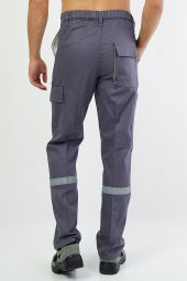 Gabardin Gri Pantolon-3