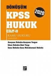 Gazi Kitabevi 2020 KPSS Dönüşüm Kamu Hukuku Çalışma Kitabı Cilt 2