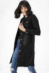 Liplipo Düğmeli Uzun Kot Ceket