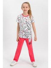 Bugs Bunny Lisanslı Toz Pembe Kız Çocuk Pijama Takımı