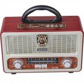 Meier M 111bt Şarjlı Nostaljik Radyo Bluetoot Kumanda Usb Sd Mp3