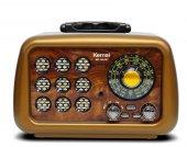 Kemai Md1901 Usb Sd Mp3 Bluetooth Şarjlı Nostaljik Radyo Kahve